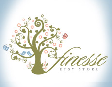 butterfly tree logo design